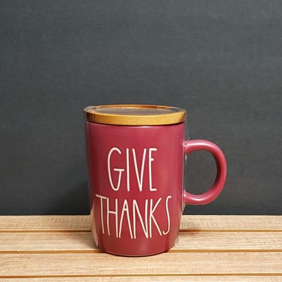 Rae Dunn GIVE THANKS coffee mug